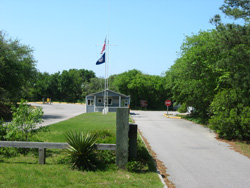 The Main Entrance Road And Entry Station In First Landing State Park